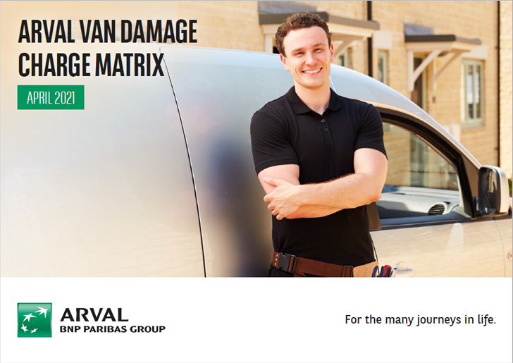 Arval van damage charge matrix