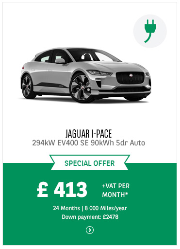 Jaguar I-PACE at £413 + VAT