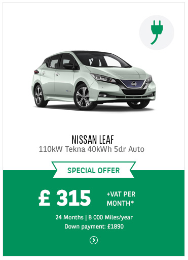 Nissan Leaf at £315 + VAT