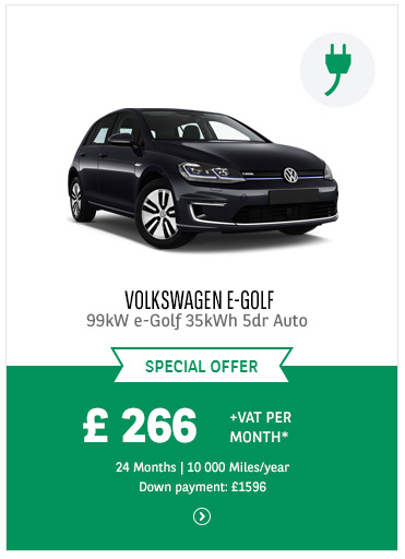 Volkswagen e-Golf at £266 + VAT