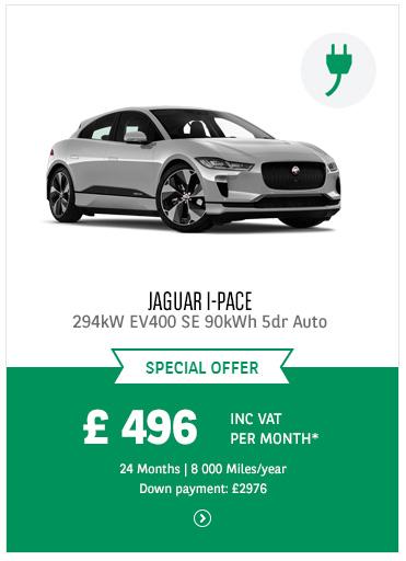 Jaguar I-PACE at £496 inc VAT