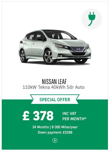 Nissan Leaf at £378 inc VAT