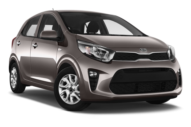 kia picanto company car side front view