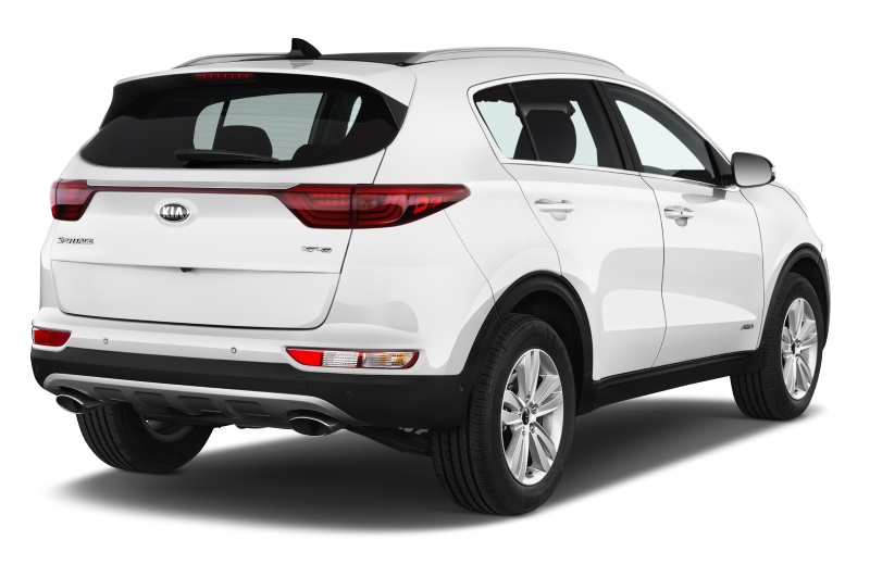 kia sportage company car side rear view