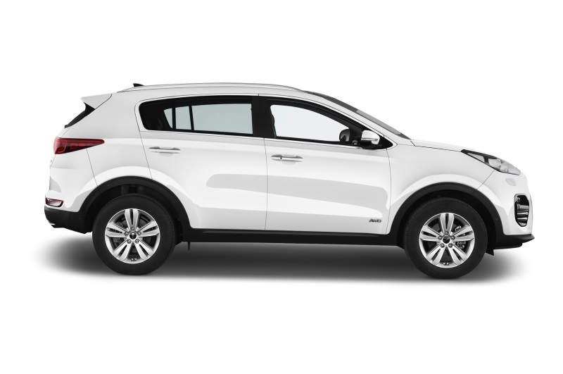 kia sportage company car side view