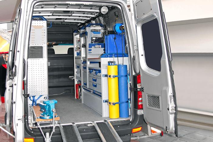 Fully-racked vans