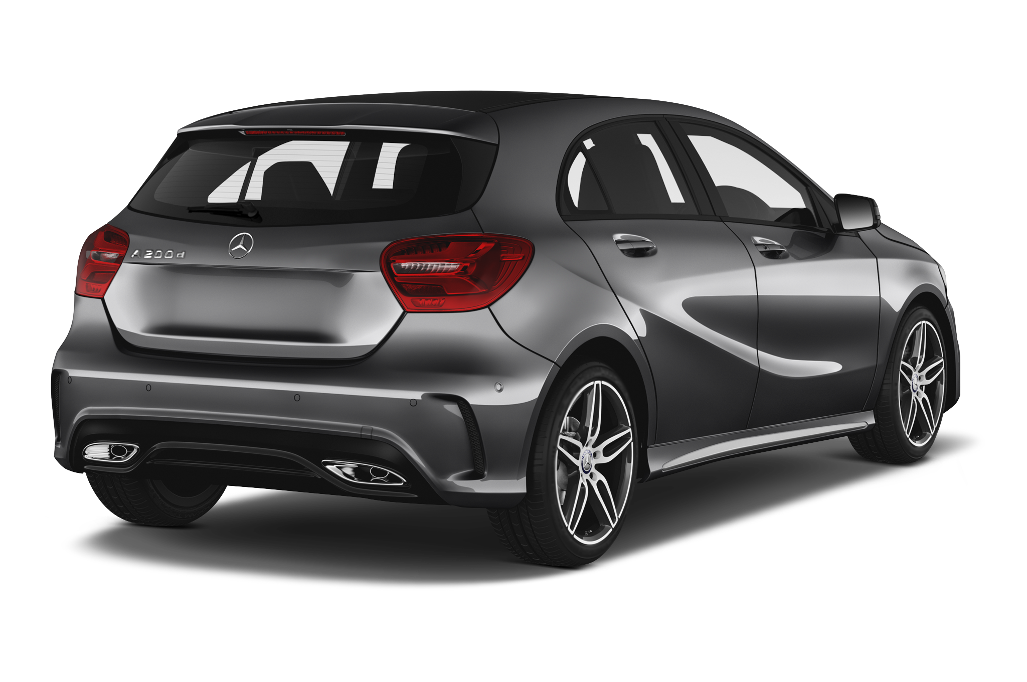 Mercedes-Benz A-Class company car side rear view