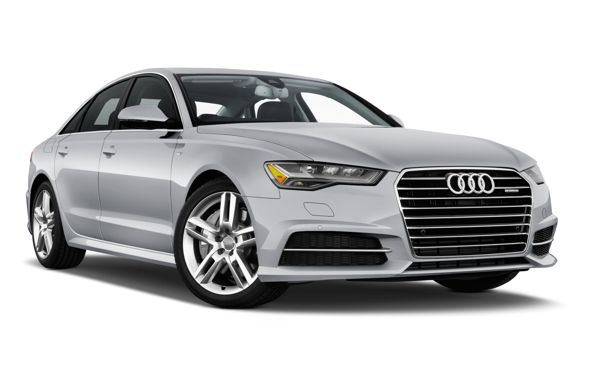 audi a6 saloon front angle view