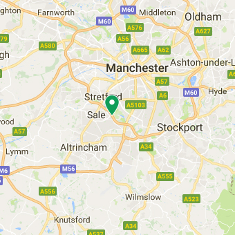 a google map image of arval manchester