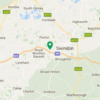 google maps view of arval swindon location