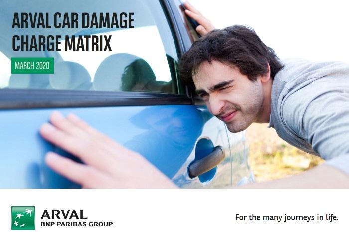 Arval car damage charge matrix