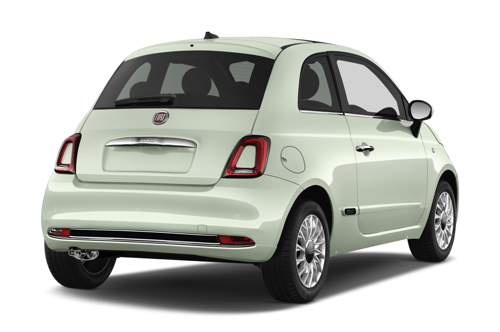 fiat 500 rear angle view