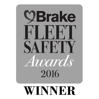 Road Safety in the Community Award 2016 BRAKE Fleet Safety Awards Logo