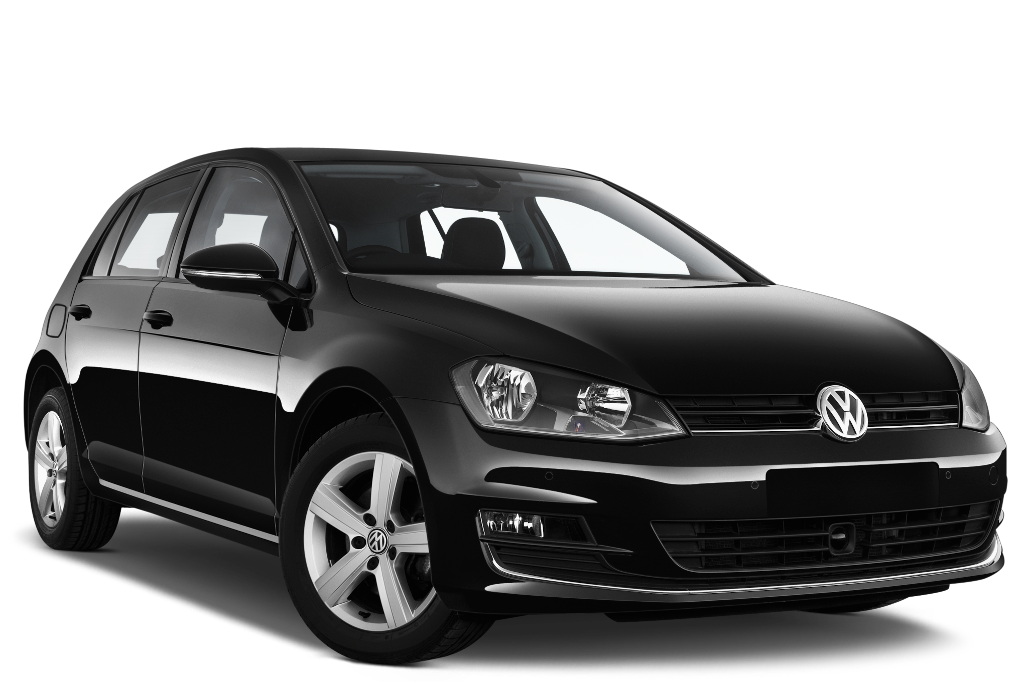 Volkswagen Golf company car front view