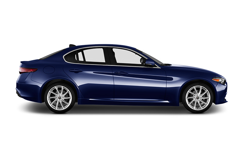 alfa romeo giulia side view blue