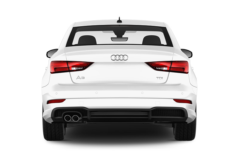 audi a3 saloon rear white
