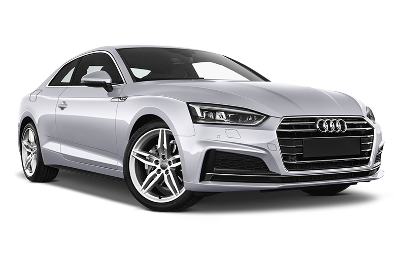 audi a5 front angle silver