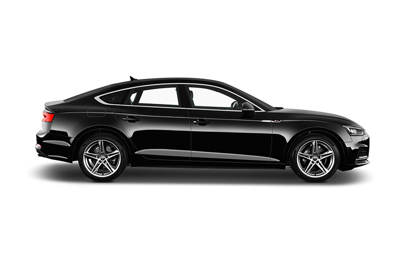 audi a5 sportback side view black