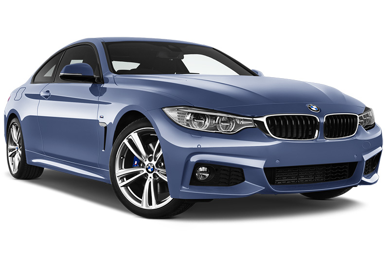 bmw 4 series coupe front angle blue