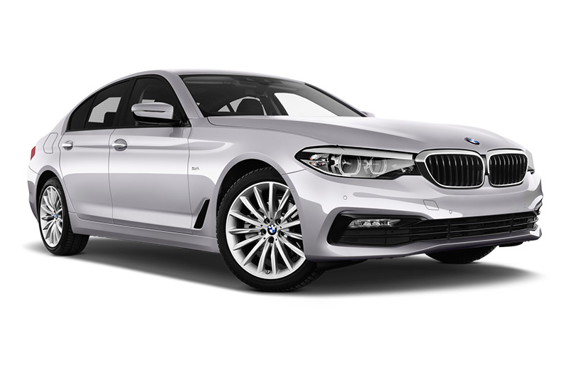 bmw 5 series front angle silver
