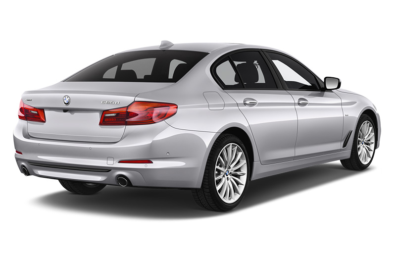 bmw 5 series rear angle silver