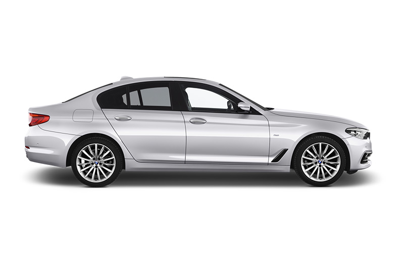 bmw 5 series side view silver