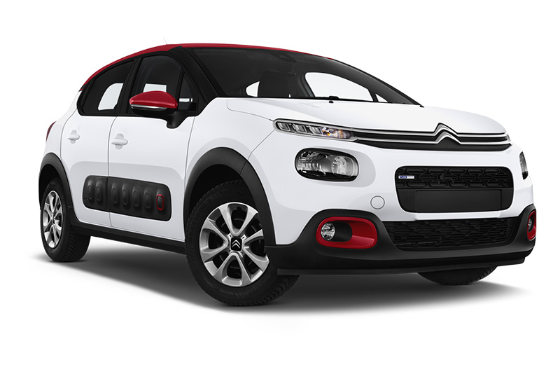 citroen c3 front angle white