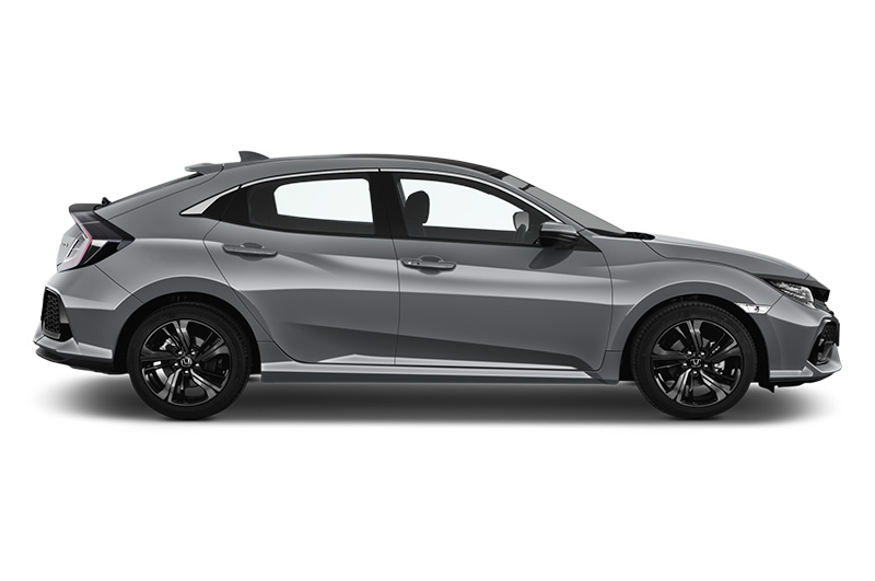 honda civic side view silver.