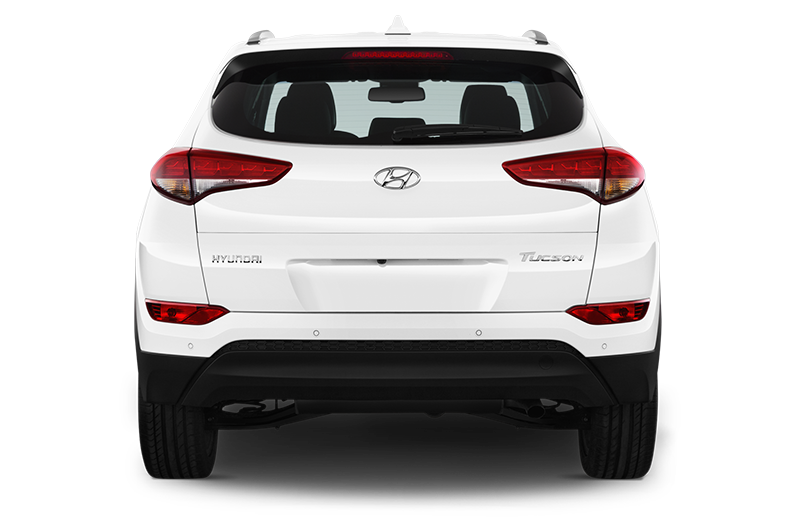 hyundai tucson company car rear view