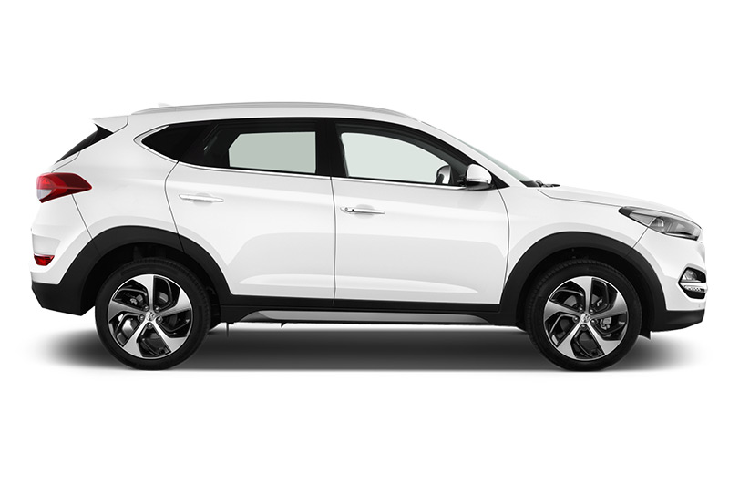 hyundai tucson company car side view