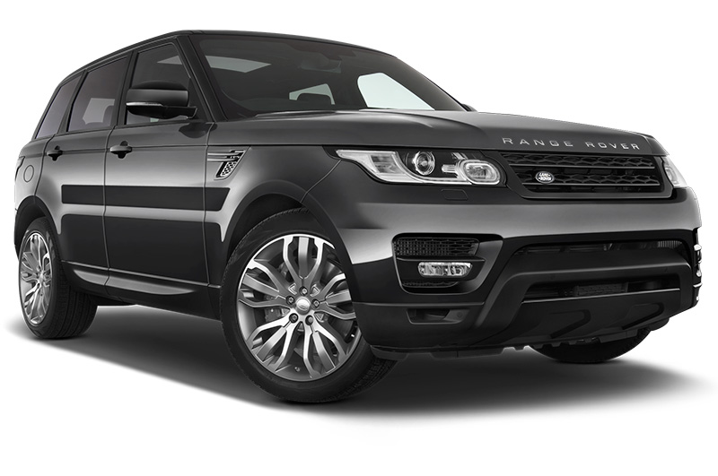 landrover range rover sport front angle black