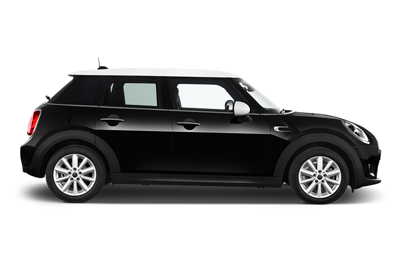 mini cooper side view