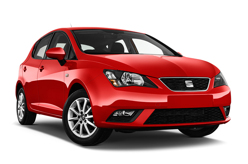 seat ibiza front angle red