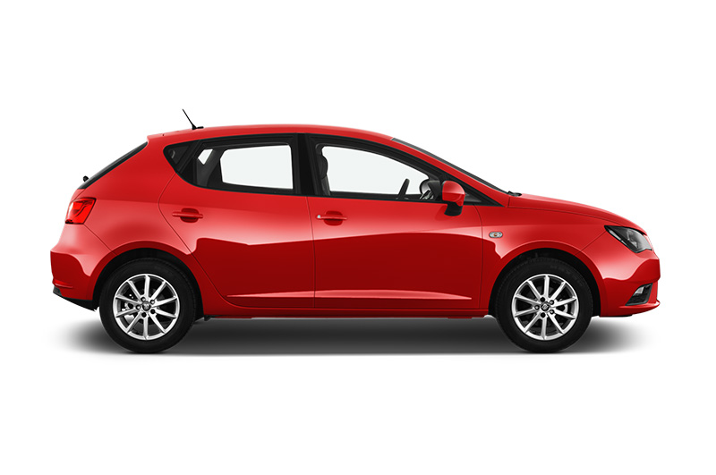 seat ibiza side- iew red