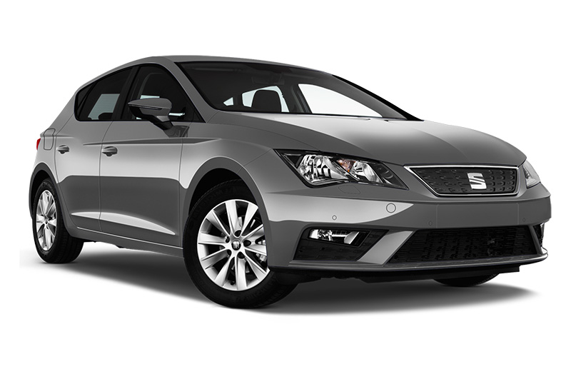 seat leon front angle silver