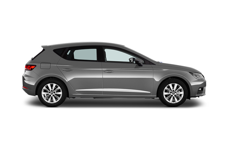 seat leon side view silver