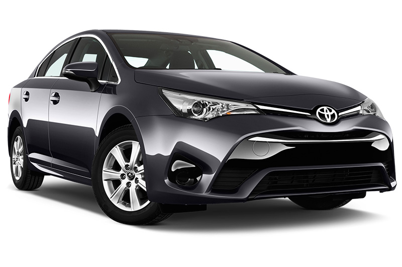 toyota avensis front angle dark blue