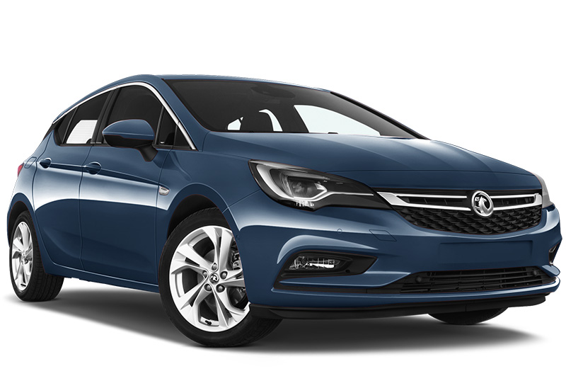 vauxhall astra front angle deep sky blue
