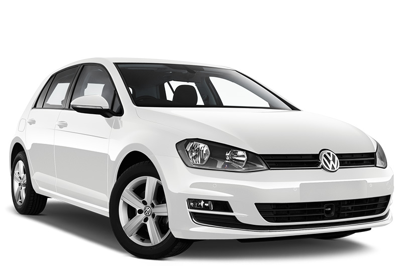 volkswagen golf se front angle white