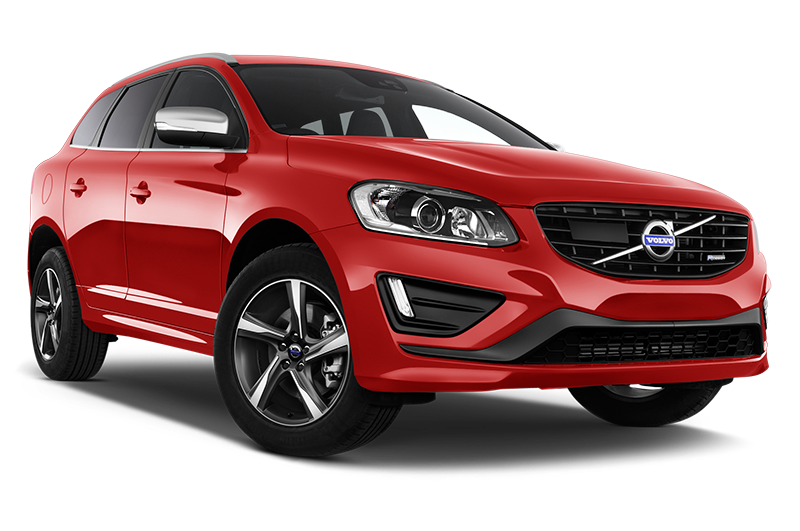 volvo xc60 front angle red