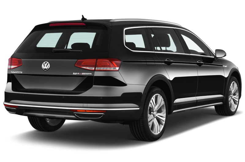 volkswagen passat company car rear side view